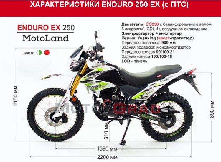 Мотоцикл Motoland  ENDURO ST 250 (EX 250)