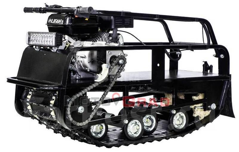 Мотобуксировщик Мужик М380 с двигателем 6.5 л.с., универсальная подвеска