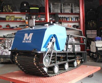 Мотобуксировщик Мужик 500 К9 с двигателем 9 л.с, универсальная подвеска