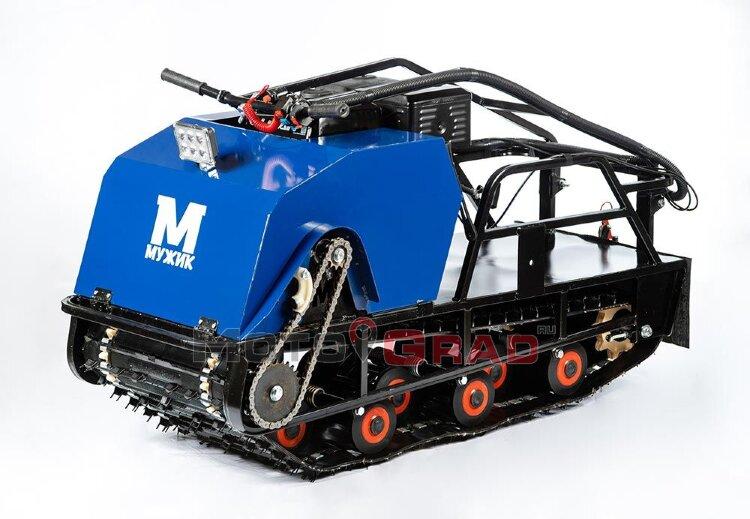 Мотобуксировщик Мужик 500 К15 с двигателем 15 л.с, универсальная подвеска
