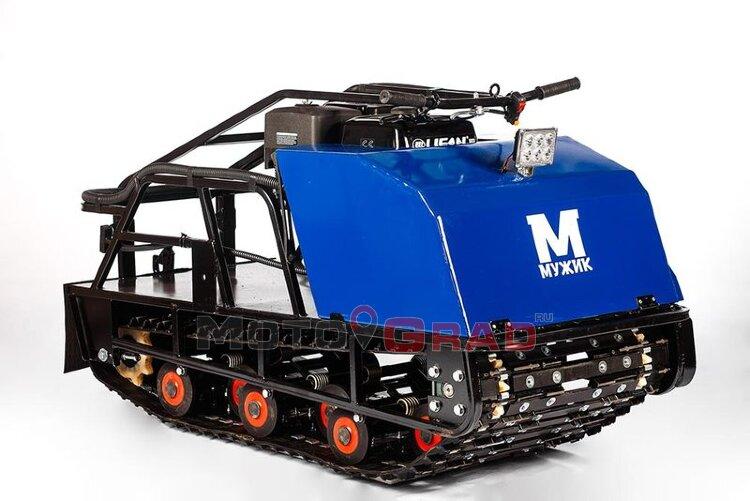 Мотобуксировщик Мужик М600 К15 с двигателем 15 л.с, универсальная подвеска