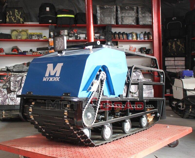 Мотобуксировщик Мужик 500 К18,5 с двигателем 18,5 л.с, универсальная подвеска