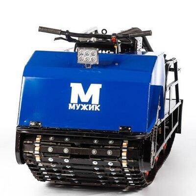 Мотобуксировщик Мужик М600 Long К20 с двигателем 20 л.с, 1700 мм. универсальная подвеска, разрезная гусеница 600 мм.