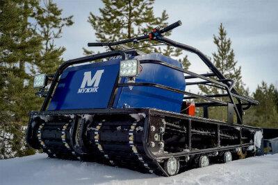 Мотобуксировщик Мужик М760 К18 с двигателем 18.5 л.с., универсальная подвеска, 2х гусеничный